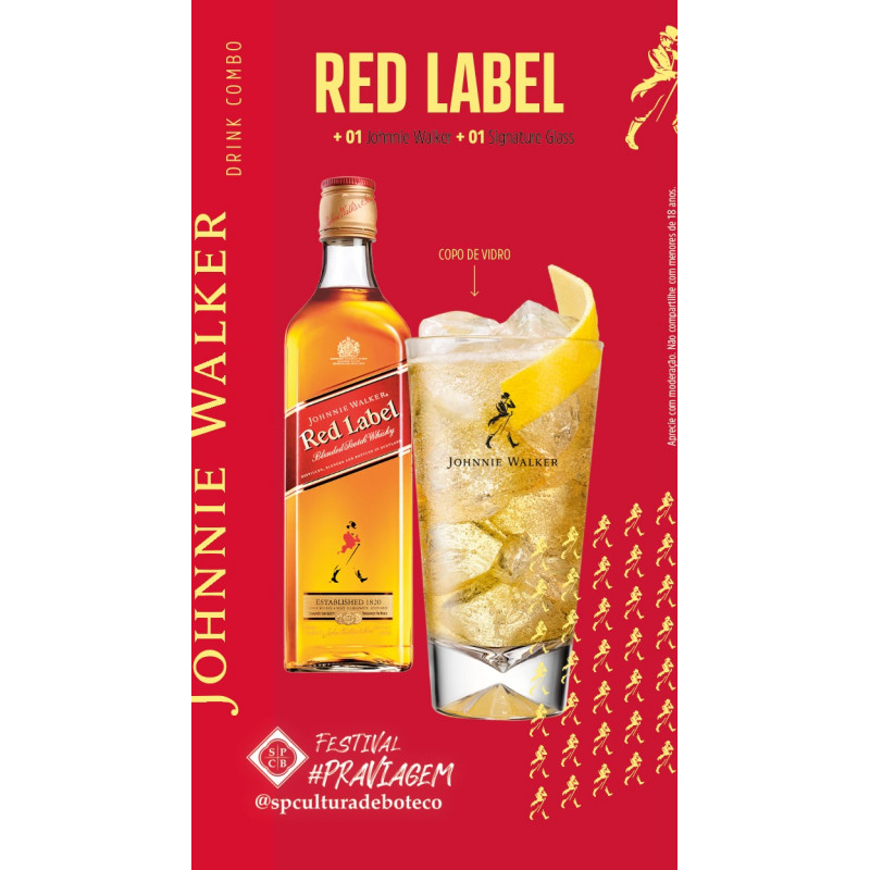 Combo High Ball Red Label + copo