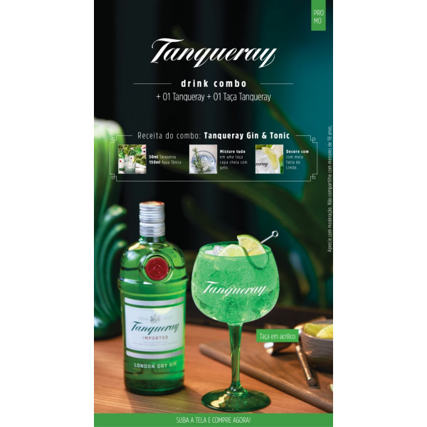 Combo G&T  Tanqueray + taça